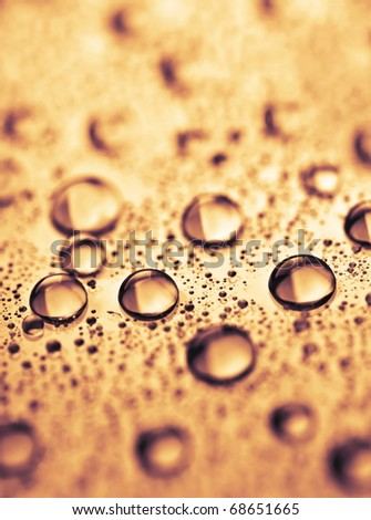 beautiful background of water drops - stock photo