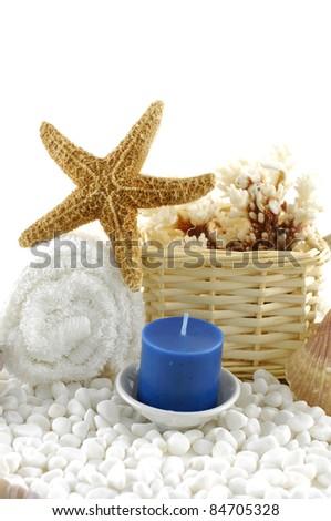 beautiful background. sea spa - stock photo