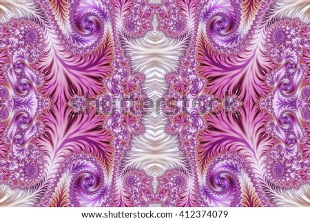 Beautiful Background with Spiral Pattern. Collection - Oriental tales. Artwork for creative design, art and entertainment.  - stock photo