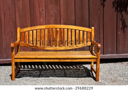 Beautiful Backyard bench at a Napa Valley Winery in California - stock photo