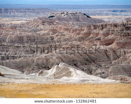 Beautiful Badlands, South Dakota, United States - stock photo