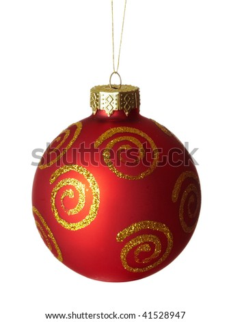 Beautiful ball of christmas isolated on the white background.