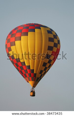 Beautiful Balloon rising in the blue sky
