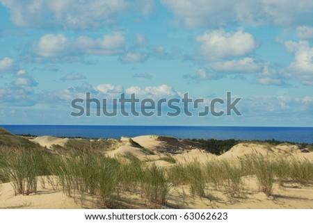 Beautiful Baltic Sea sand beach - stock photo