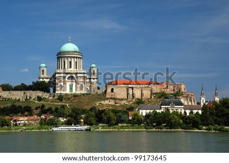 Beautiful basilica Esztergom, Hungary - stock photo