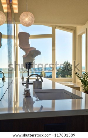 Beautiful Bathroom Sink - stock photo