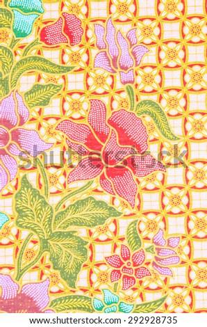 Beautiful batik patterns - stock photo