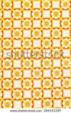 Beautiful batik sarong patterns in Thailand, traditional batik  - stock photo