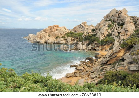 Beautiful bay in northern Sardinia - stock photo