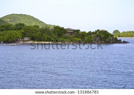 Beautiful bay.Puerto Rico - stock photo