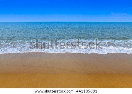 Beautiful beach and tropical andaman sea, Wave of the sea on the sand beach