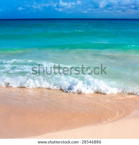 Beautiful Beach And Waves Of Caribbean Sea Please Search For More Beaches In My Portfolio