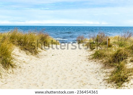 beautiful beach at baltic sea in usedom - stock photo