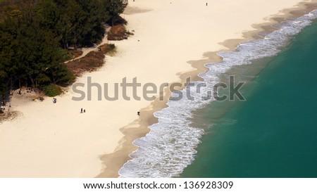 beautiful beach at hongkong surburb, one of the tourism hot spot in Sai Kung, Hong Kong Global Geopark, china - stock photo