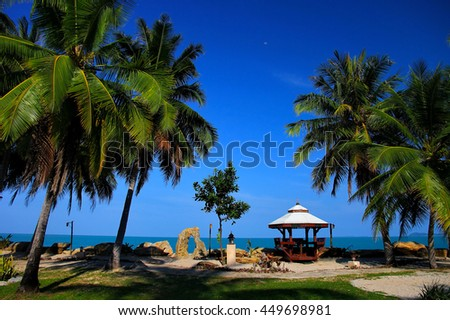 Beautiful beach at Khanon ,Nakornsritammarat ,Thailand