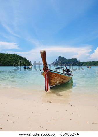 Beautiful beach at Koh Phi Phi Thailand - stock photo