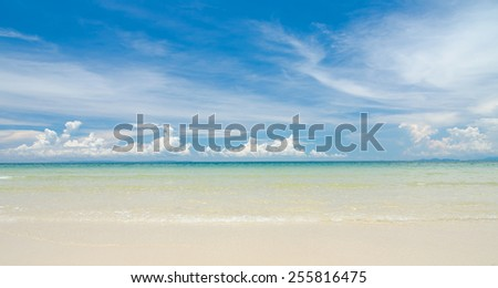 Beautiful beach at Trat, Thailand - stock photo