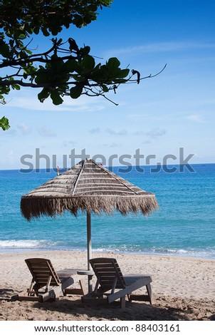 Beautiful beach Chairs - stock photo