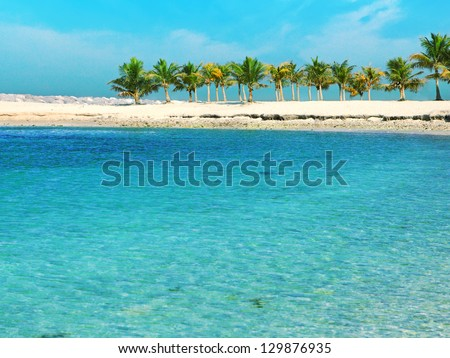 Beautiful Beach, Dubai, UAE - stock photo