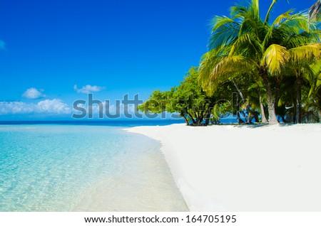 beautiful beach in belize - stock photo