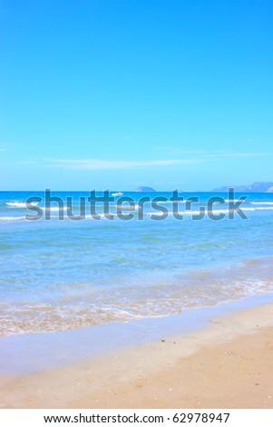 Beautiful beach in Greece - stock photo