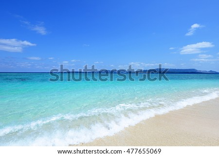 Beautiful beach in Okinawa
