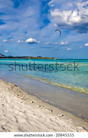 beautiful beach La Cinta in Sardinia, Italy - stock photo