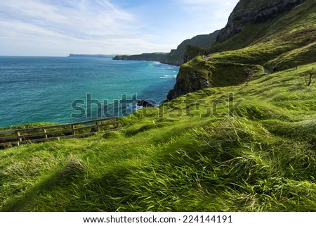 Beautiful beach landscape in Ireland - stock photo
