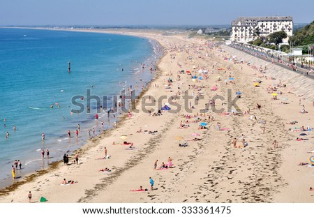 Beautiful beach of Donville-les-Bains near Granville in France
