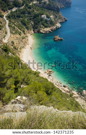 Beautiful beach off the beaten track on Costa Blanca, Spain - stock photo