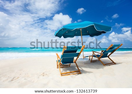 Beautiful beach on Anguilla island, Caribbean - stock photo