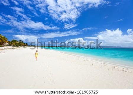 Beautiful beach on Anguilla island, Caribbean - stock photo