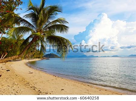 beautiful beach on Samui island. Thailand - stock photo