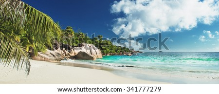 Beautiful Beach Panorama on the Seychelles, see my portfolio for other beautiful beach pics
