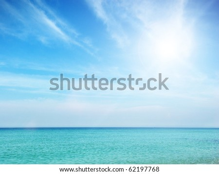 Beautiful beach. Tranquil scene. Element of design. - stock photo