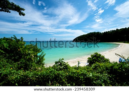 Beautiful beach View in Boracay Island in the Philippines. - stock photo