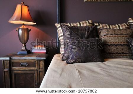 Beautiful bedroom interior design - stock photo