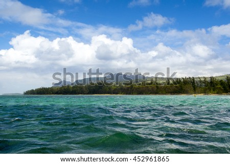 Beautiful Bel Ombre coastline in Mauritius