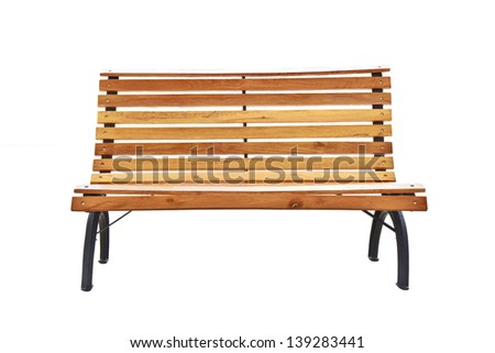 Beautiful bench separately on a white background.