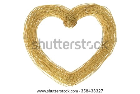 Beautiful Big Wired Gold Heart Frame Stock Illustration 358433327 ...