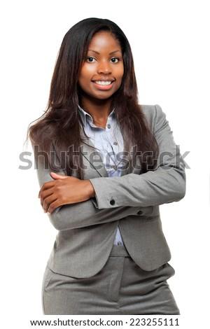 Beautiful black businesswoman portrait - stock photo
