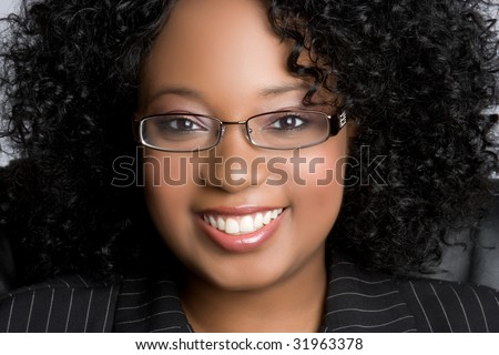 Beautiful Black Businesswoman Smiling