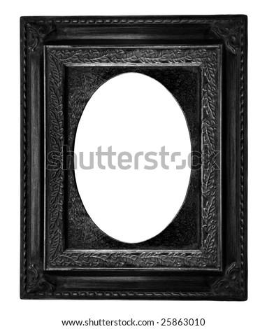 Beautiful black frame - stock photo