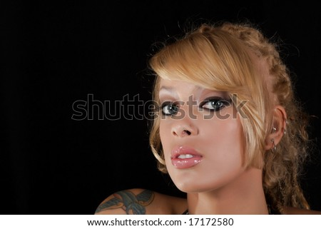 beautiful blond - stock photo