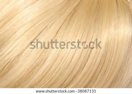 beautiful blond hair - stock photo