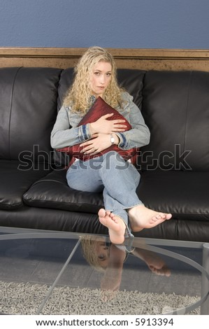 Child Abuse Abusive Parent Father Girl Stock Photo