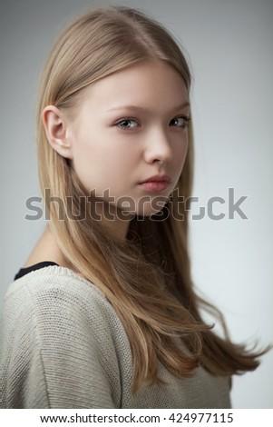 Beautiful Teen Girl Portrait Stock Photo 139550264