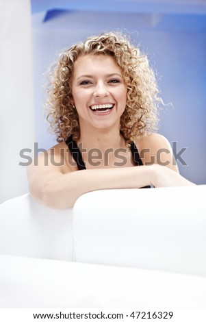 Beautiful Blond Woman - stock photo