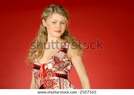 beautiful blonde - stock photo