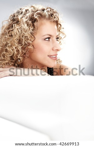 Beautiful blonde - stock photo